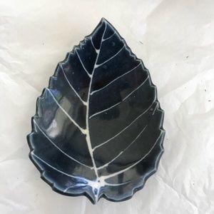 Ceramic leaf Tray Hand Created